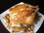 Курица запеченная в духовке с картошкой приготовлена Петровной
