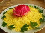 Рецепт  классического  салата из печени трески  от Алёнки