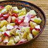 Летний салат из редиски и огурцов  от Алёнки