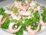 Салат с креветками и огурцами это вкусно, утверждает Тоня