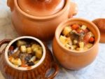 Картошка с грибами в духовке
