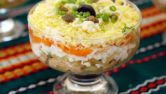 Печень трески: салат праздничный