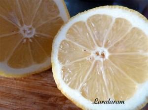 Салат из авокадо.  Лимон