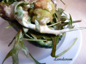 Салат из авокадо. Сервировка салата