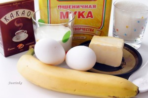 продукты для банановых маффинов