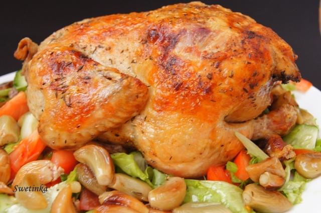 Как приготовить курочку в духовке
