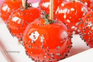 помидоры черри в карамели