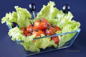 помидоры черри, запеченные в маринаде