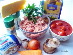 продукты для запеканки с макаронами