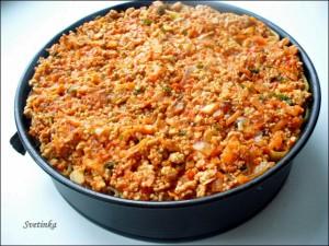 залить макароны томатным соусом