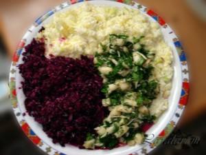 """САЛАТ Инь-Ян-Хрень из капусты и """"хрени"""". Готовый салат"""