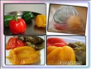 """Салат с помидорaми и сыром """"Томатно-помидорный БЛЮЗ"""". Запечённые перцы"""