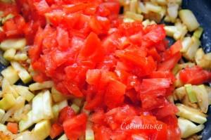 потушить овощную начинку