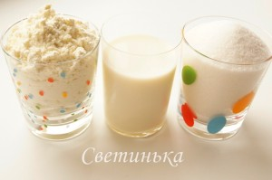 продукты для приготовления домашней сгущенки