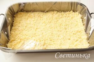 расплавить сыр в духовке
