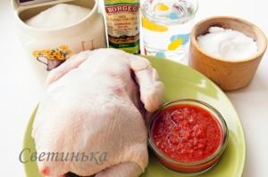 продукты для приготовления курицы в духовке