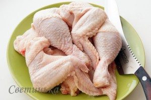 разрубить курицу на части