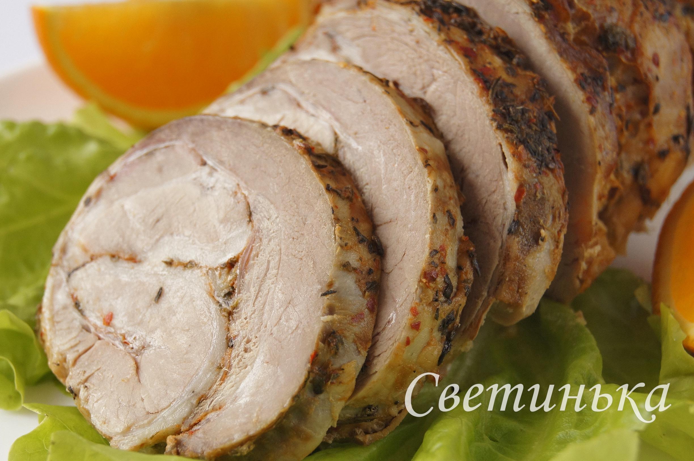 Свиной рулет в духовке пошаговый рецепт