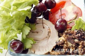 продукты для салата с черешней