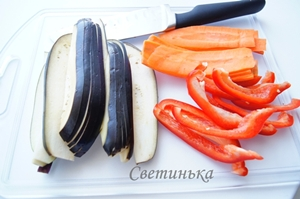 нарезать овощи для запеканки