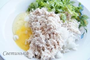 соединить рис с курицей