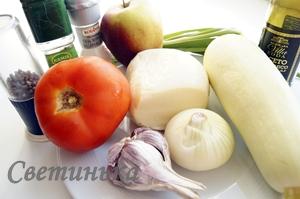 продукты для блюда из кабачков