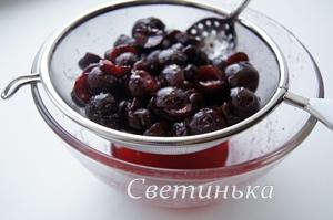 слить ягодный сок для пропитки бисквита