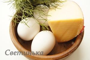 продукты для омлета с сыром