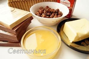 продукты  для шоколадного торта