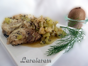 """Как приготовить рыбу в соусе """"Луковое моё горе... экзотическое""""! Готовое блюдо"""