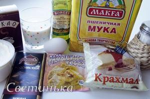 продукты для бисквита в микроволновке