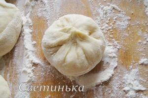 сформировать булочки с начинкой