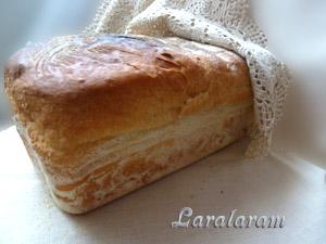 "Белый хлеб по-быстрому - ""Торопыжка-пышка"". Булка хлеба"