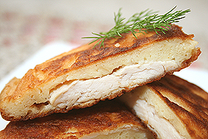 Оладьи-пирожки с курицей от AlKut
