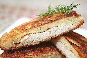 рецепт оладушек с куриным филе