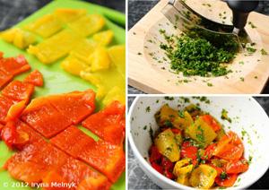 рецепт салата из болгарского перца и ветчины и сыра