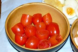 из помидоров вынуть мякоть