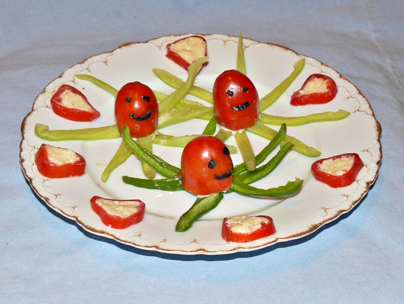 помидоры фаршированные сыром