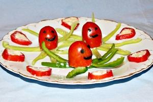 помидоры фаршированные сыром и кальмарами