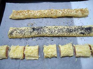 Закуска из слоенного теста-саладитос. Подготовленные саладитос