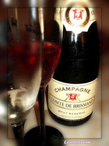 Шампанское с сиропом из цветов хибикуса