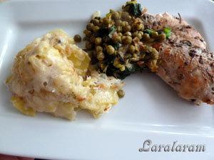 Рецепт гратена, курицы и овощей по рецепту Джейми Оливер