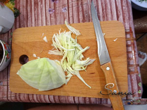 Мелко нарезанная капуста