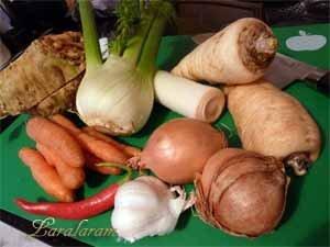 Овощи для постного супа
