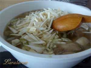Закладка овощей в суп