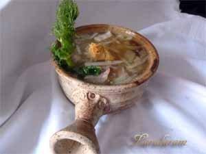 Готовый постный суп