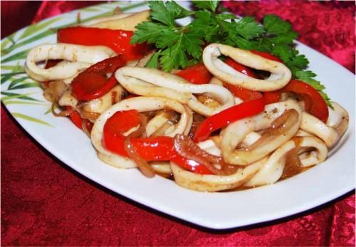 Мясо кальмара рецепт