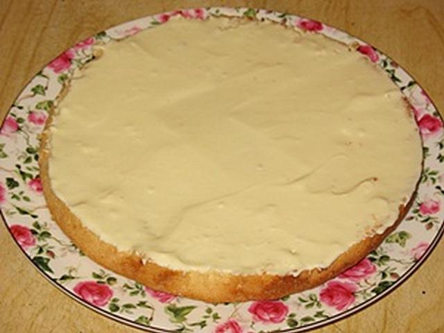 Крем для торта с готовыми бисквитными коржами