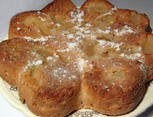 Шарлотка с яблоками и маргарином рецепт с фото пошагово в духовке