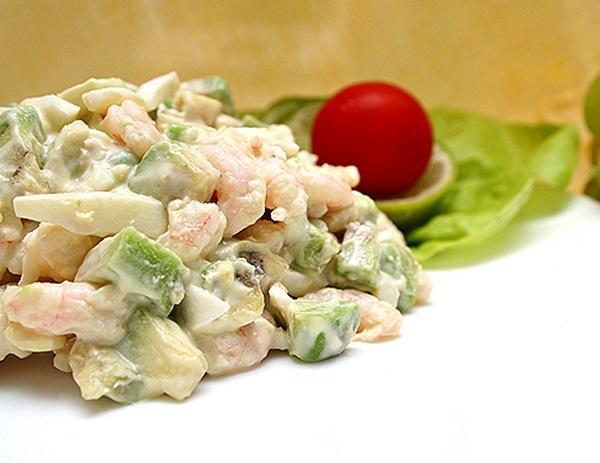 рецепты салатов с крабами и авокадо